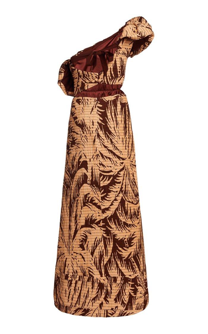 Quiet Corners Convertible Printed Cotton-Blend Maxi Dress