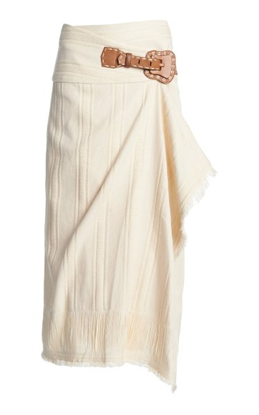 Dream Catcher Cotton-Blend Wrap Skirt