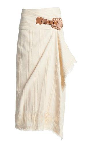 Dream Catcher Cotton-Blend Wrap Skirt