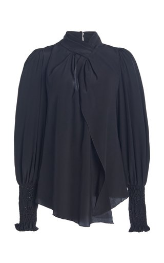 Patiently Yours Draped Silk Blouse