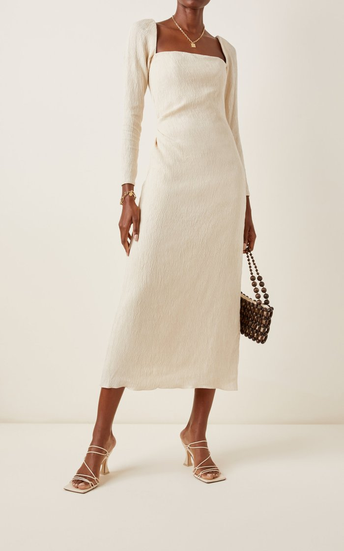 The Real Truth Off-The-Shoulder Crepe Maxi Dress