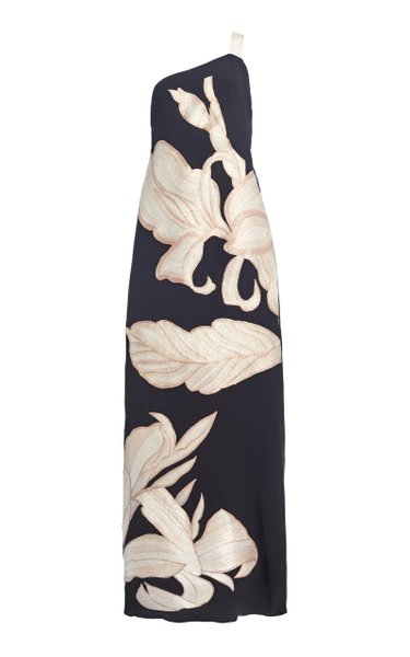 Unconditionally Yours Embroidered Silk Maxi Dress