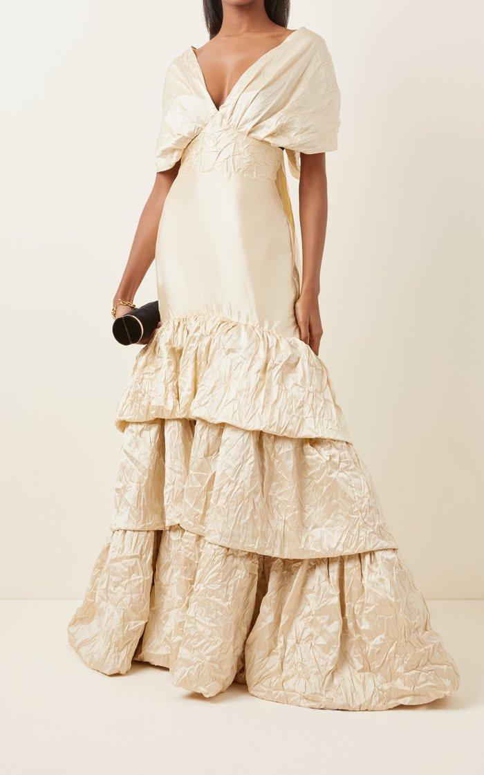 Corazon Coraza Convertible Silk Gown