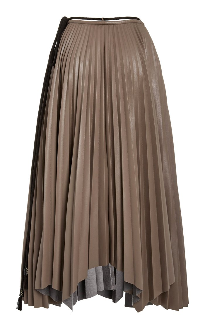 Beeja High-Rise Plisse-Crepe Skirt