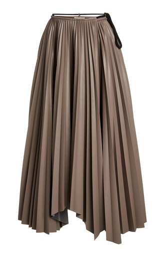 Beeja High-Rise Plisse-Crepe Skirt
