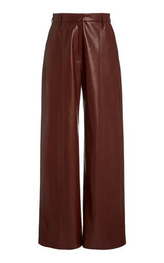 Cleo Straight-Leg Vegan Leather Pants