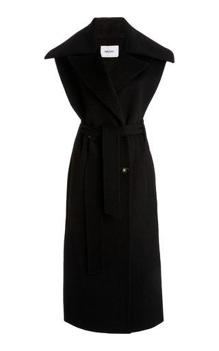 Nura Sleeveless Wool-Silk Trench Coat