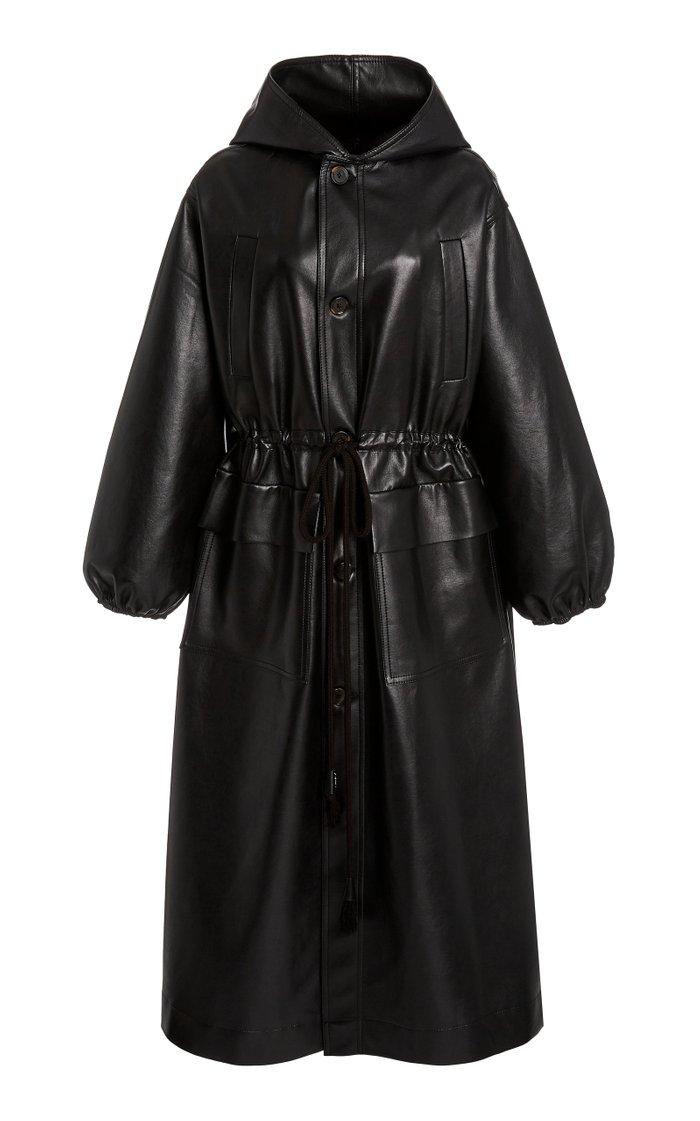 Noki Oversized Leather-Blend Coat