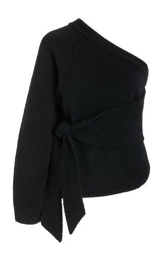 Cleto One-Shoulder Knit Top