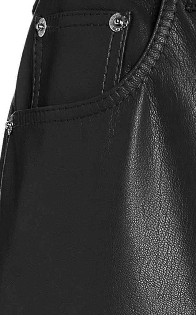 Vinni Vegan Leather Straight-Leg Pants