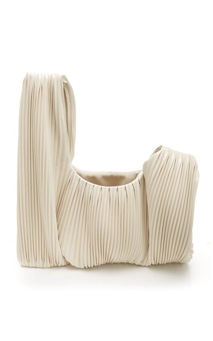 Jen Pleated Vegan Leather Top-Handle Bag