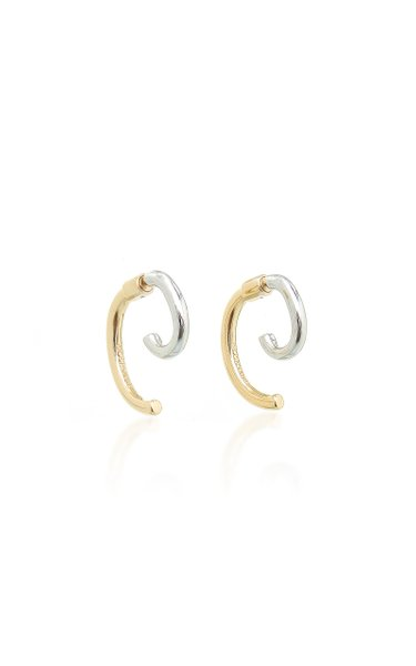 Luna 12k Gold-plated Two-Tone Earrings