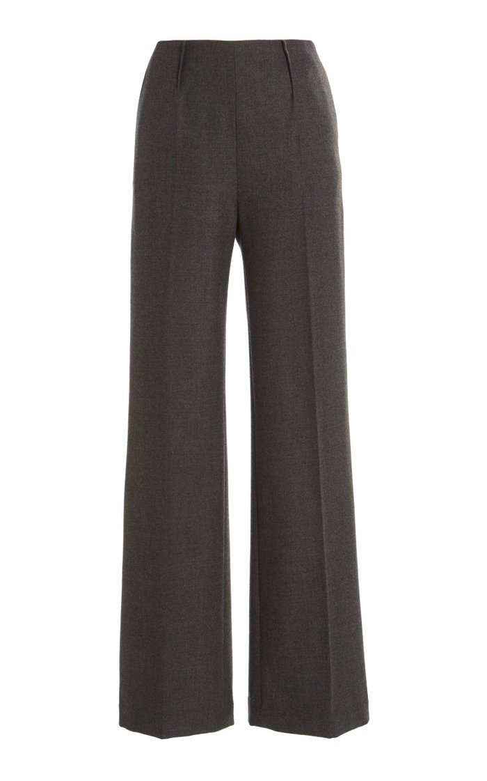 Luther Mélange Wool-Blend Wide-Leg Pants