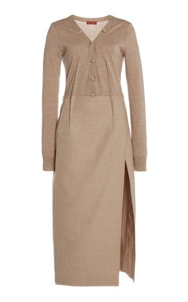 Arlene Wool-Blend Midi Dress