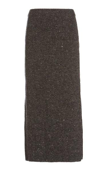 Tony Wool-Cashmere Skirt