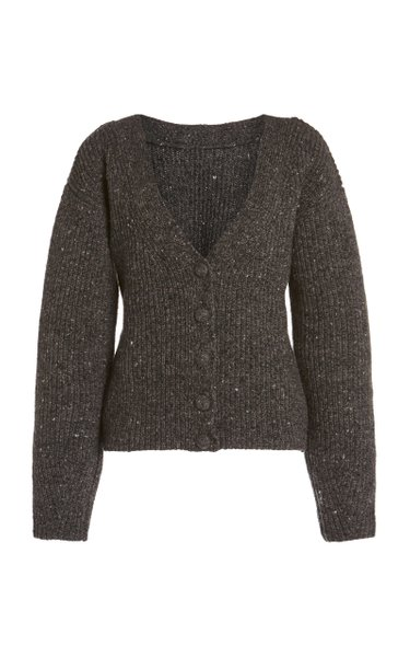 Beverly Wool-Cashmere Cardigan