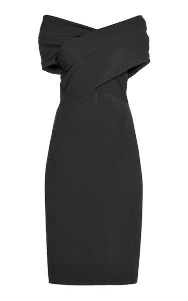 Peggy Jersey Off-The-Shoulder Dress