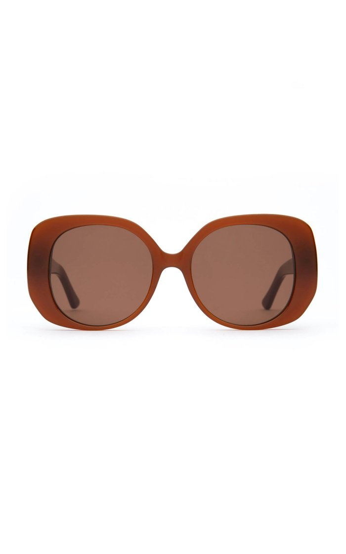 The Rendezvous Round-Frame Acetate Sunglasses
