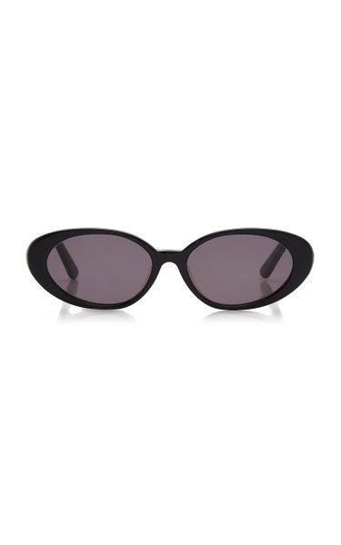 The Poet Round-Frame Acetate Sunglasses
