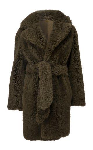Huger Belted Shearling Coat