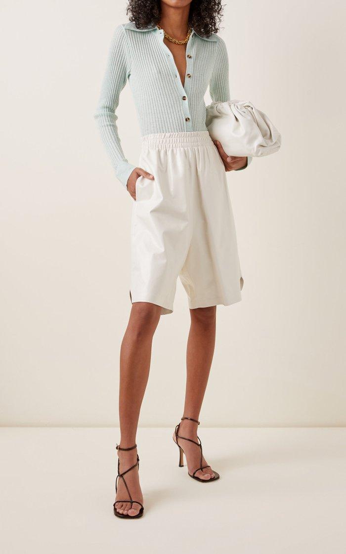Pollie Cutout Ribbed-Knit Bodysuit