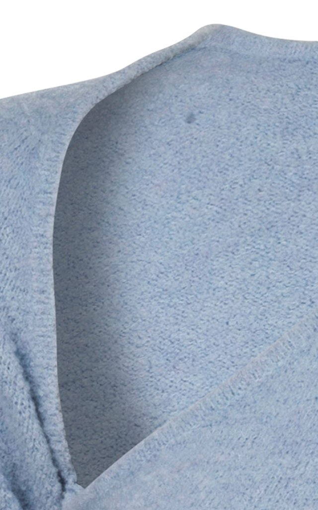 Tesh Asymmetric Knit One-Shoulder Bodysuit