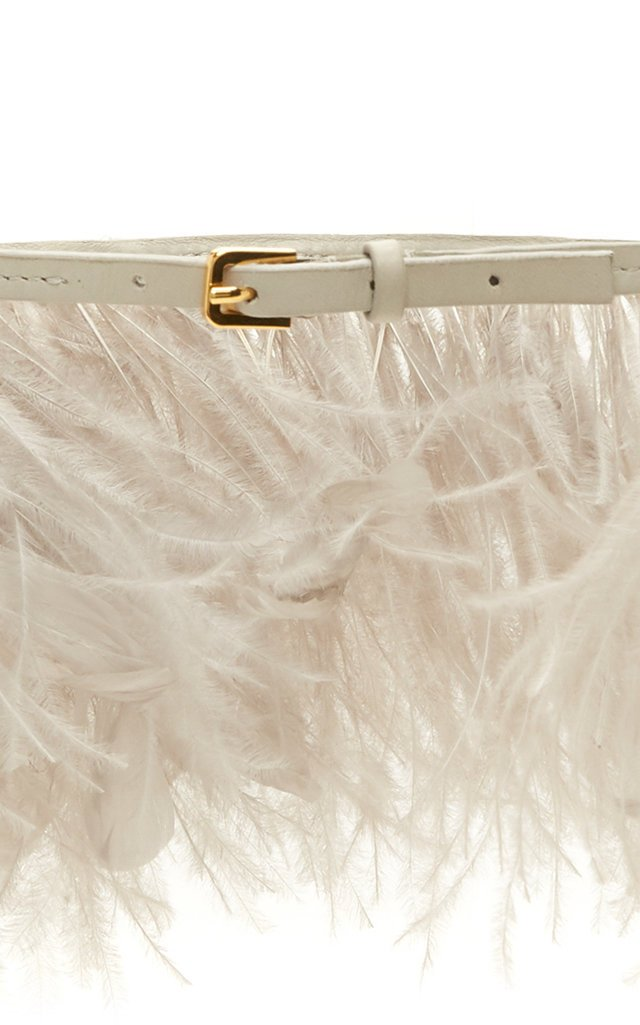 Feather Trimmed Belt