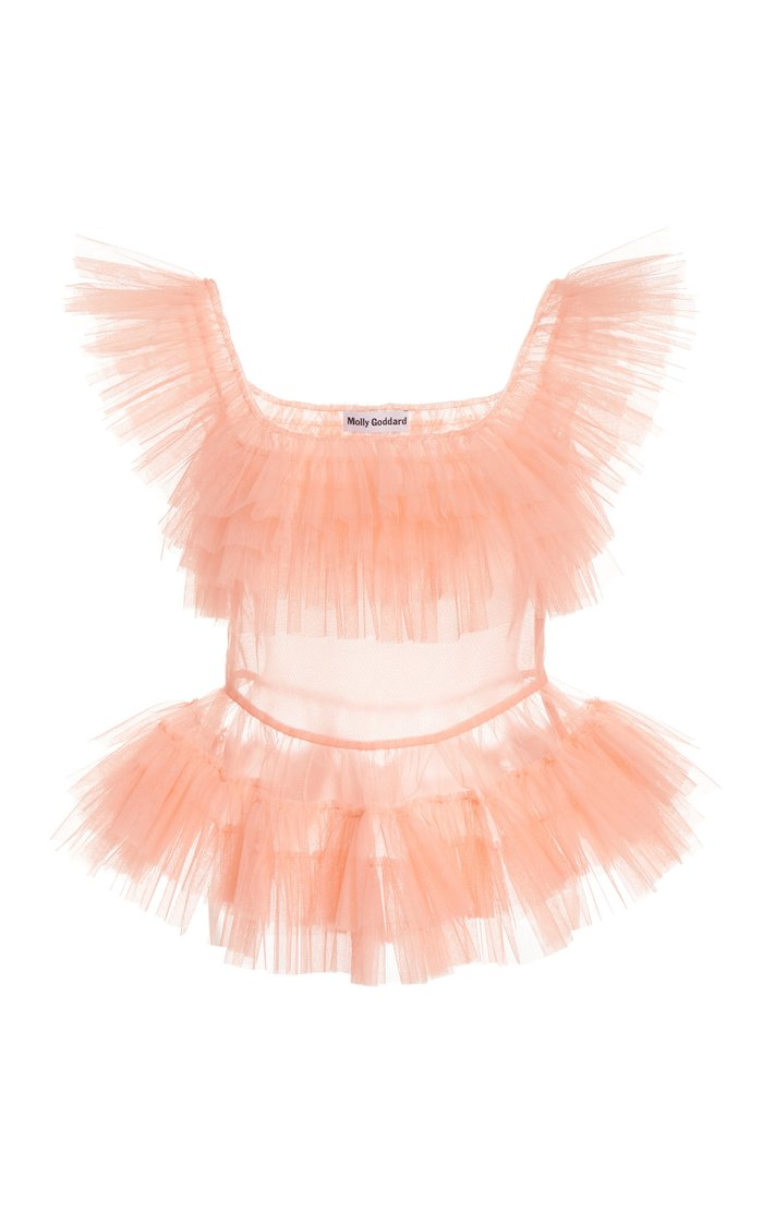 Eden Ruffled Tulle Top