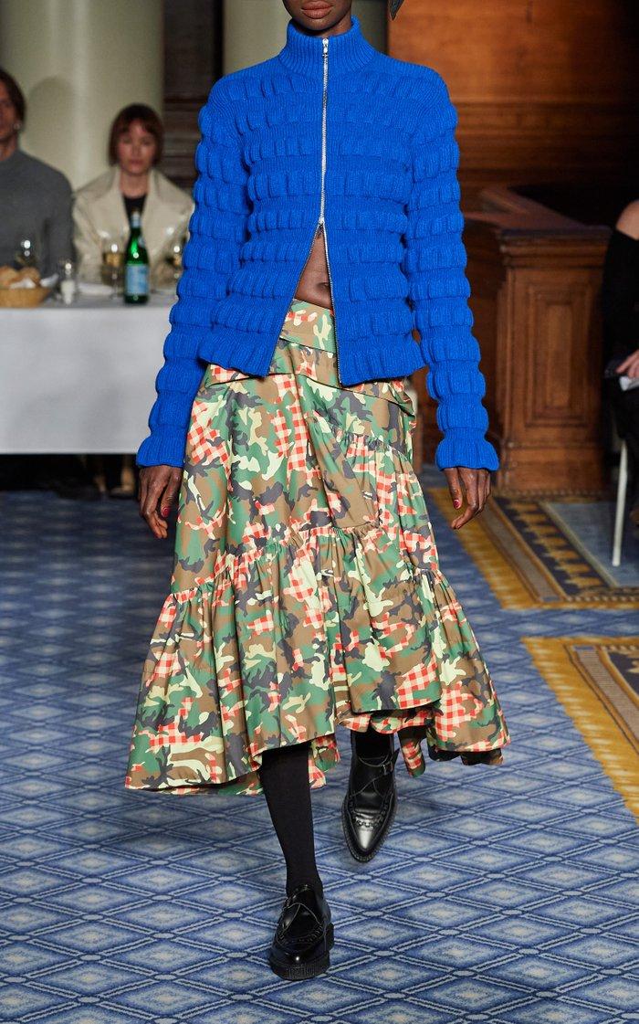 Zita Textured-Wool Cardigan