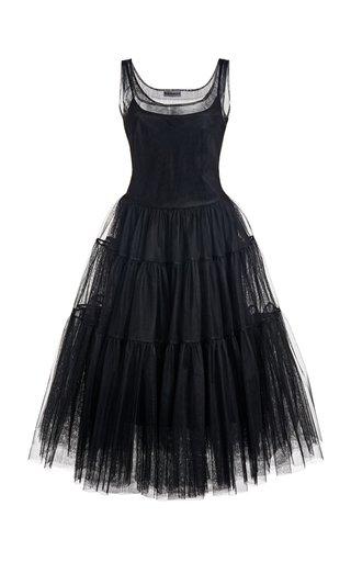 Corrie Tiered Tulle Midi Dress