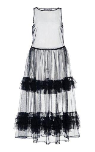 Nellie Ruffled Tulle Midi Dress