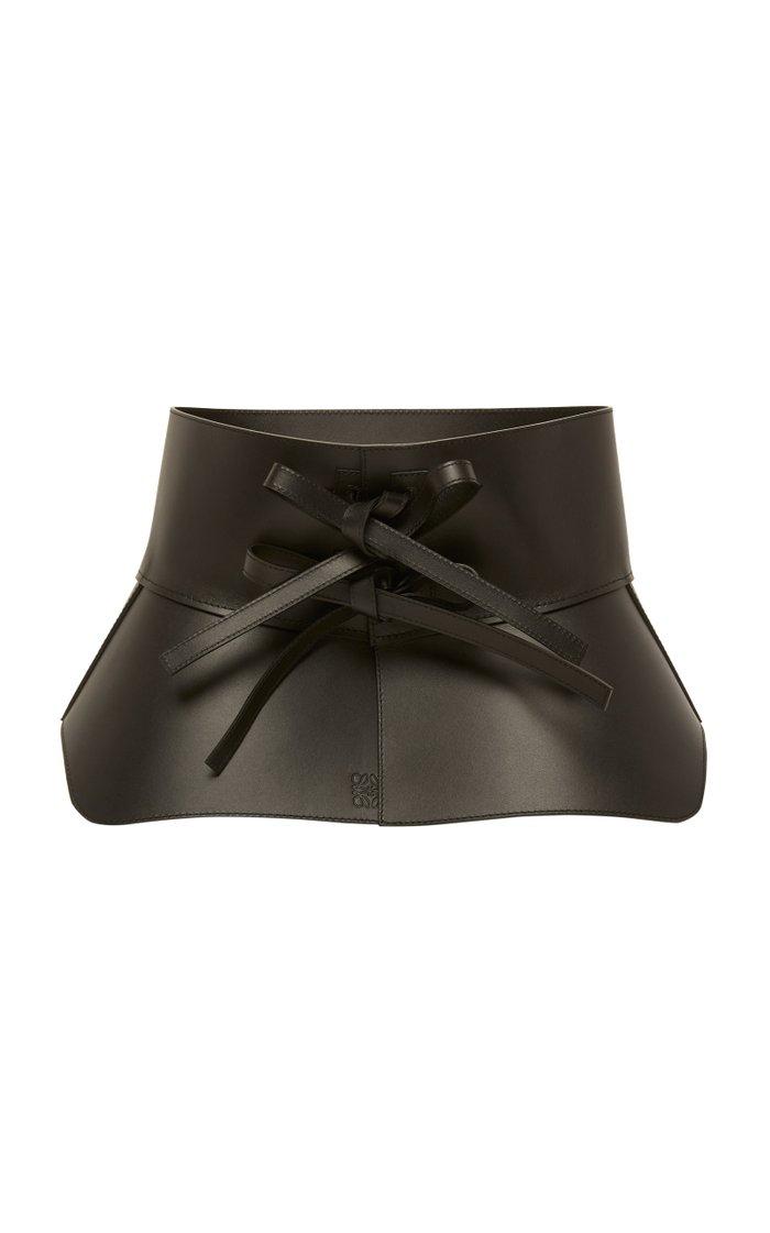 Obi Asymmetric Leather Waist Belt