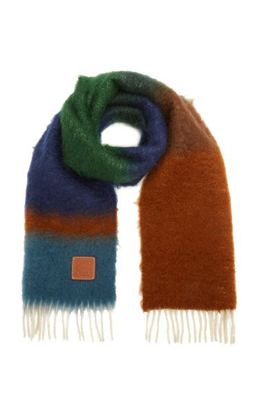 Striped Mohair Scarf