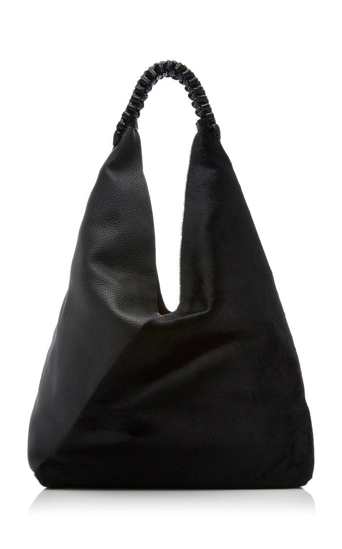 Large Angular Leather Shoulder Bag