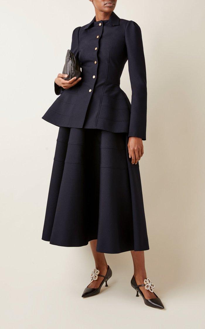 Peplum-Detailed Wool Blazer