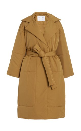 Oversized Belted Long Puffer Coat