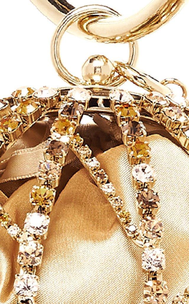 Alice Crystal-Embellished Gold-Tone Top Handle Bag