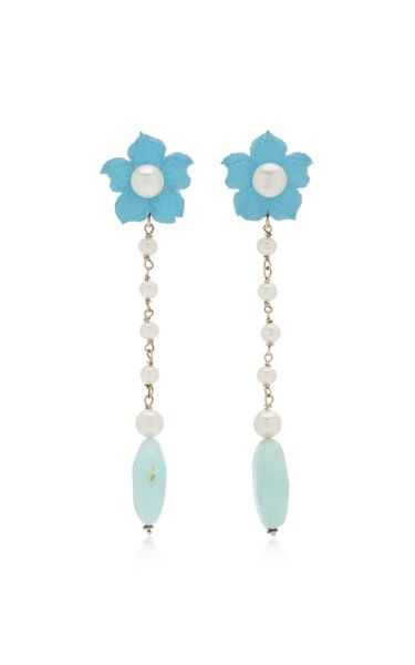 Clematis 18K Yellow Gold Dangle earrings