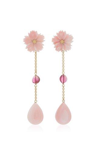 18K Yellow Gold Tourmaline Dangle earrings