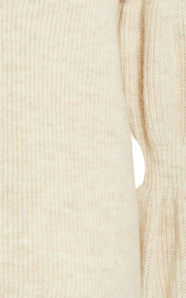 Bubble-Sleeve Wool-Blend Jumper
