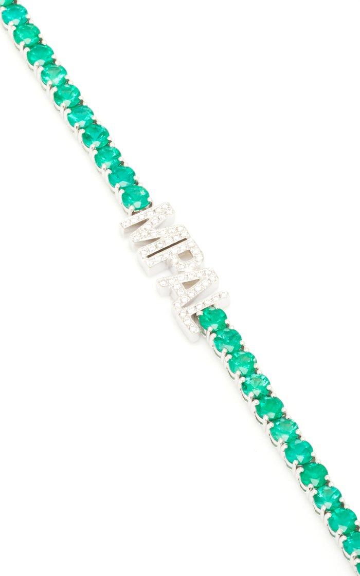 Emerald Initial Tennis Bracelet