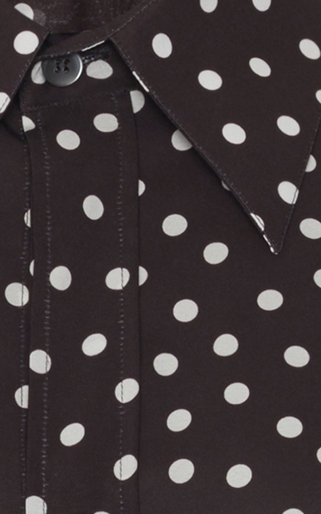 Polka-Dot Crepe Blouse