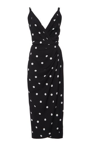 Polka-Dot Cady Dress