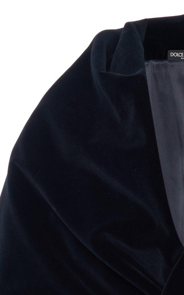 Shawl-Lapel Velvet Coat