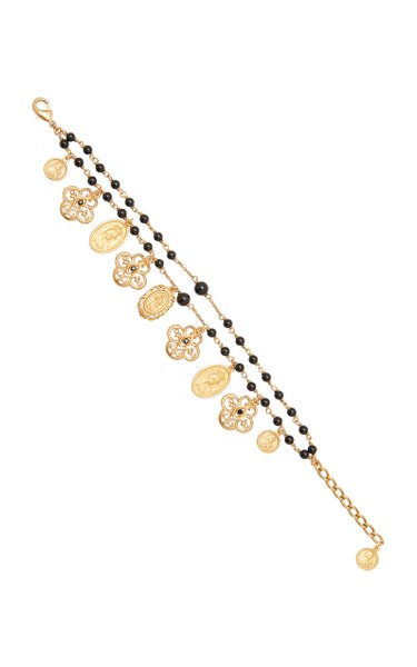 Gold-Plated And Beaded Bracelet