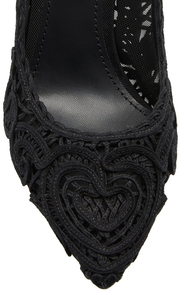Embroidered Lace Pumps
