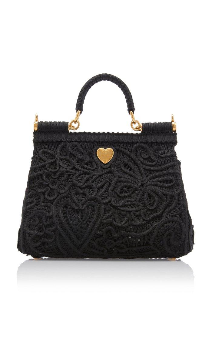 Sicily Cordonetto Lace Top Handle Bag
