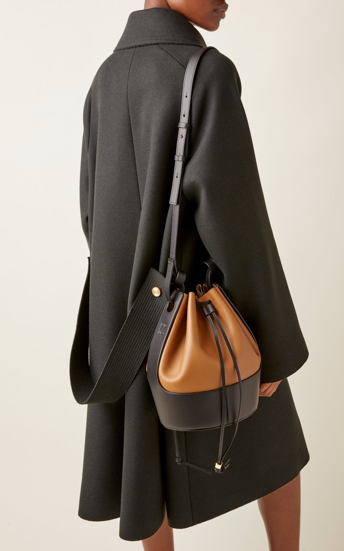Balloon Two-Tone Leather Shoulder Bag