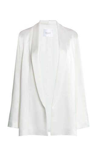 Julianne Satin Open-Front Blazer