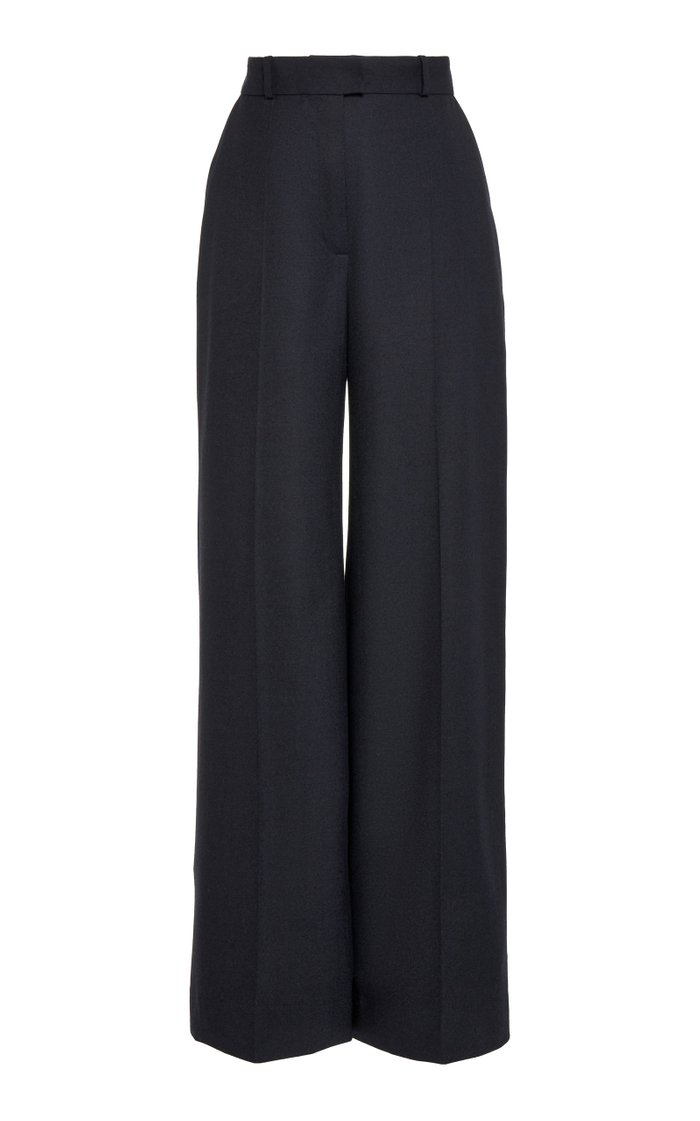 Wool Wide-Leg Trousers